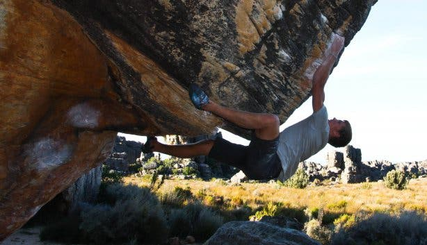 man bouldering at rocklands 3