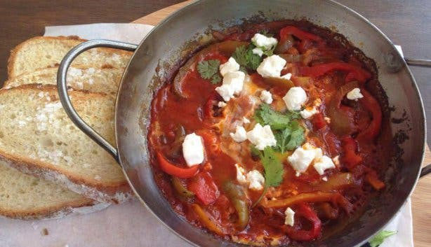 The Riverway Cafe Shakshuka Breakfast