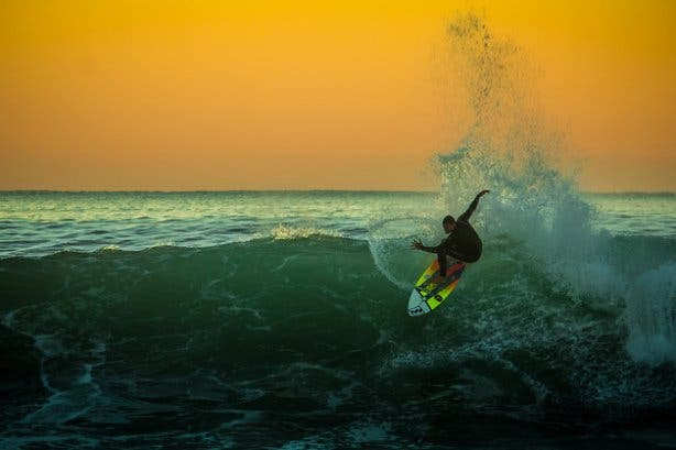 Jeffrey's Bay surfer