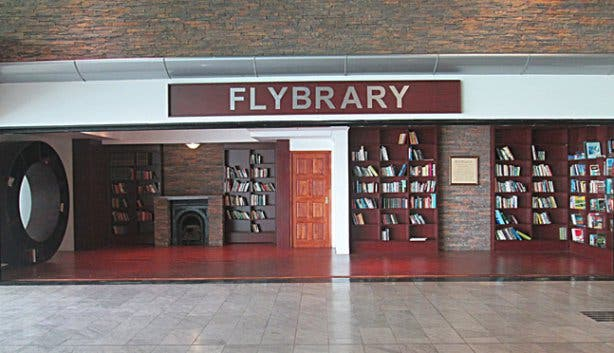 Flybrary Book Exchange Centre at the Cape Town Airport