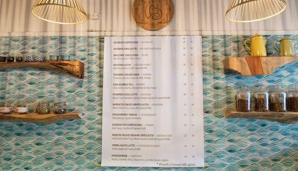 The Tea Bar menu