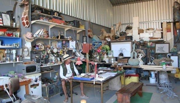 Mike Hillier art studio Solo Studios Art Festival Riebeek
