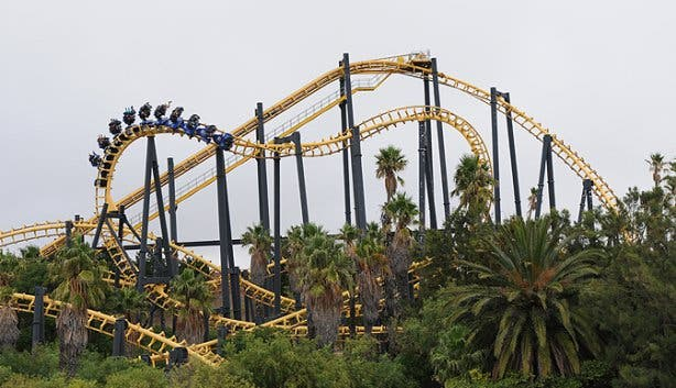 ratanga junction cobra rollercoaster