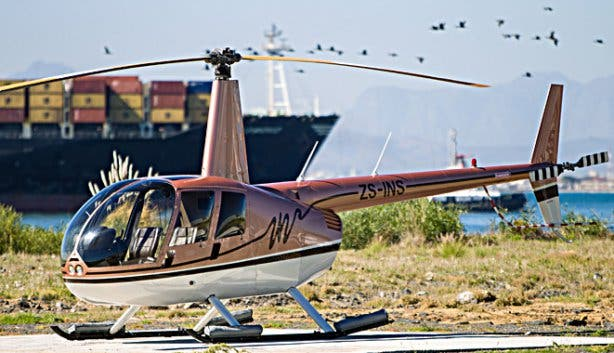 NAC helicopter base at Cape Town harbour