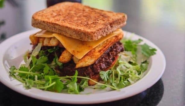 Miriam's Kitchen toasted sandwich