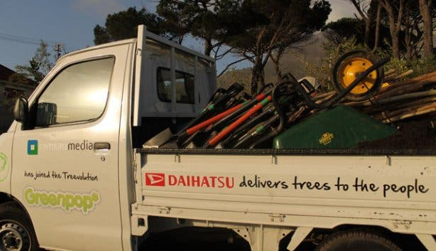 Greenpop - delivering trees in Cape Town