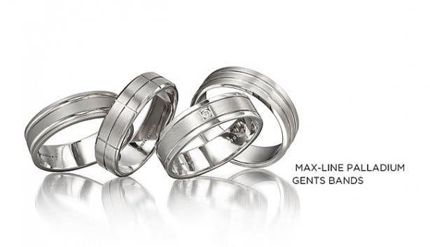 Shimanksy Max-line Palladium Men's Engagement Ring