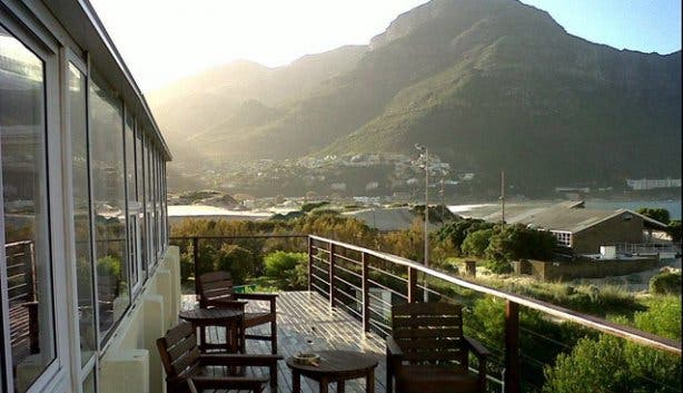 Terrace of Hout Bay Backpackers