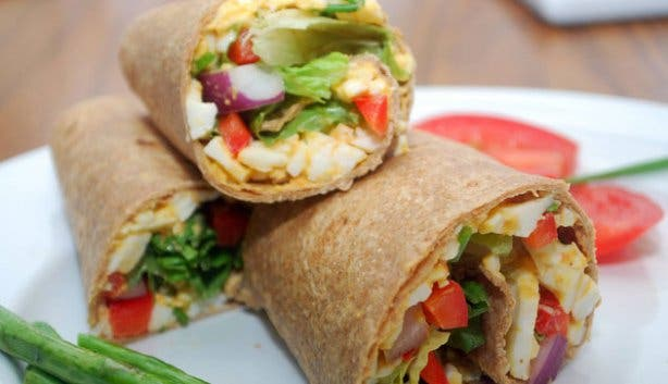 Happytown Healthy Fast Food Restaurant Wrap