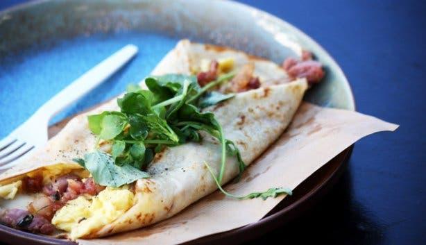 Breakfast pancake from West Coast Cape Town market