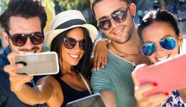 Selfies with rental phones in South Africa