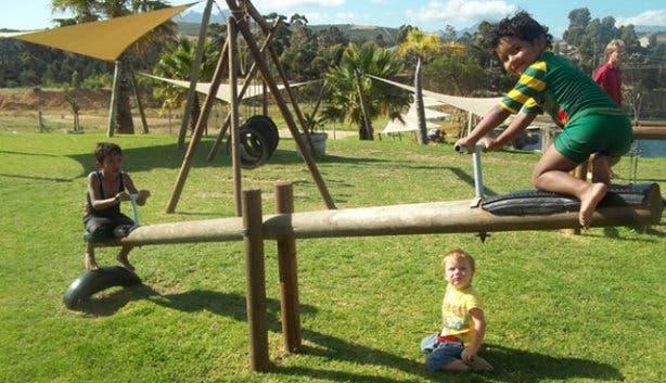 kids play area blue rock