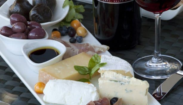 Wine and cheese platter from Peter Falke