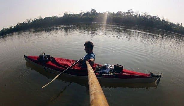 Davey du Plessis canoe