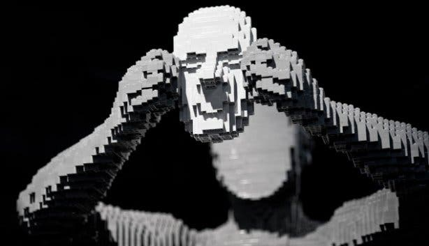 Art of the Brick Lego Man with Mask