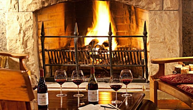 Haute Cab fireplace in wine country