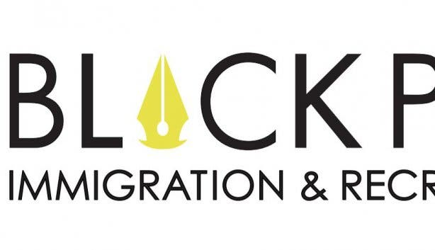 Black Pen Logo White