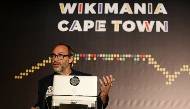 Jimmy Wales Wikimania Cape Town