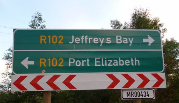 Sign at the Garden Route