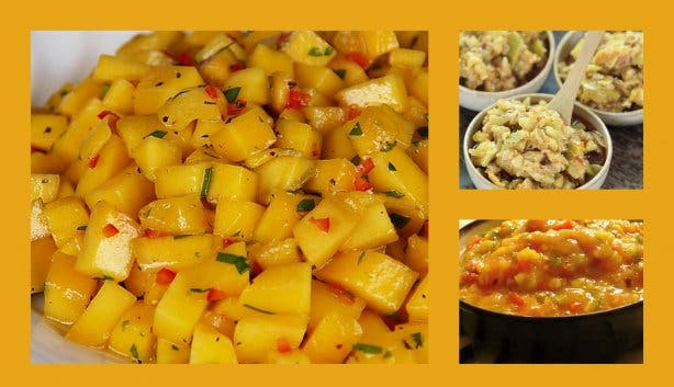 Mango Chili Chutney Collage