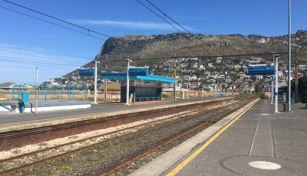 Het station in Fish Hoek