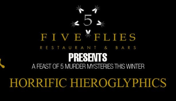 five flies murder mysteries winter horrific hieroglyphics