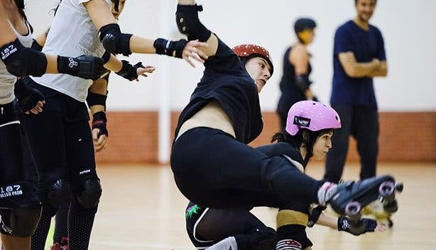 Collision at Cape Town roller derby
