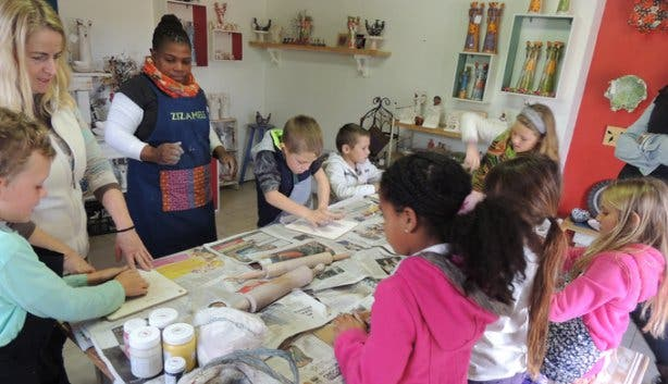 Children's Pottery Activity at Imhoff Farm