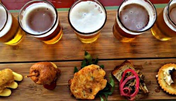Super Cool Beer Tour Beer and Food Tasting Board