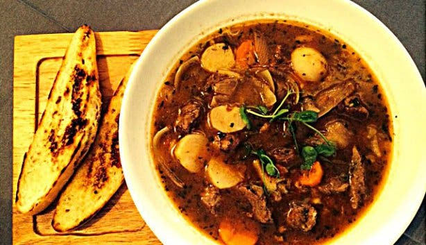Lamb soup by Sotano eatery Mouille Point