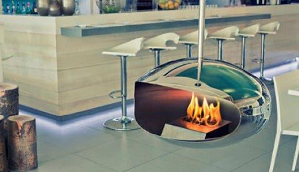 Mezepoli fireplace
