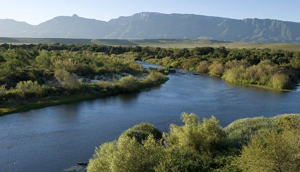 The Breede River at Bontebok National Park