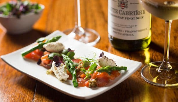Haute Cabriere Chardonnay Pinot Noir and Food