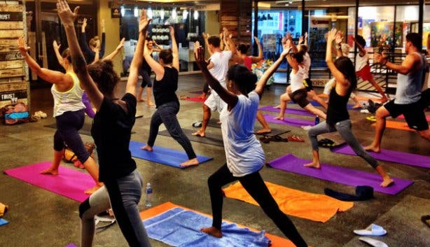 Yoga at the Cape Quarter Square
