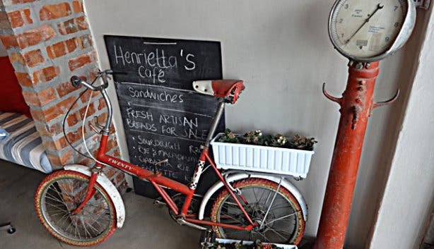 Design Walk Woodstock Make a wish Woodstock Foundry Design District Henriettas Café Bike