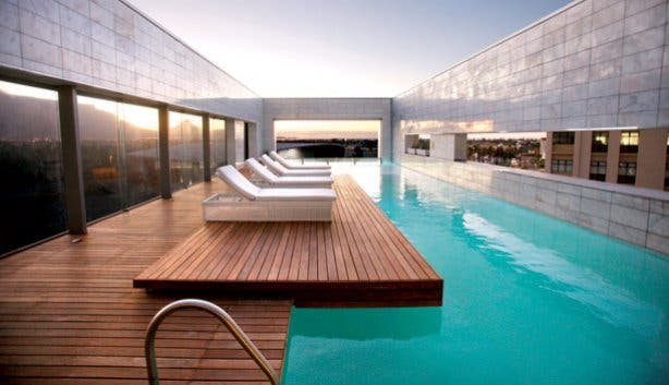Pool deck at the African Pride Crystal Towers Hotel & Spa