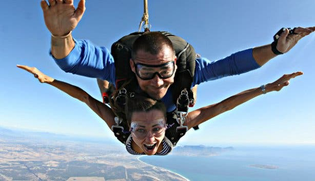 Skydiving, Cape Town, Skydive, Adrenalin, Fun, Action, Sport, Adventure, Couple, Flight, View, Funny