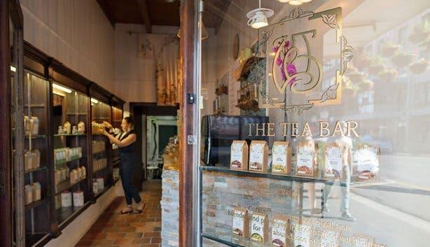 The Tea Bar Lady Bonin entrance 2