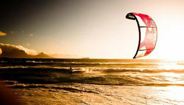 Kite boarding in CApe TOwn with High Five