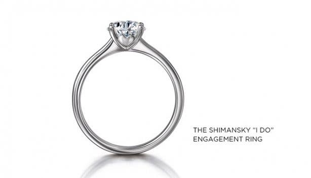 Shimansky I Do Engagement Ring
