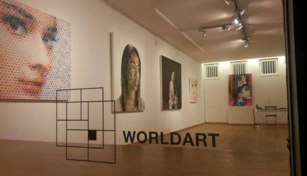 Wordlart gallery Munich inside