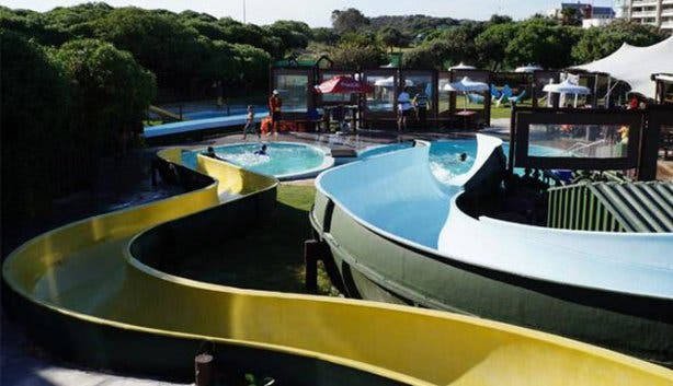 Cool Water Slides at Waterworld Strand Fun Park