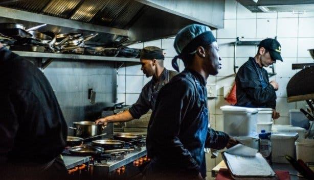 Chard Grill & Wine Bar kitchen