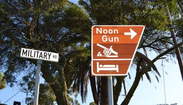 Noon Gun Sign
