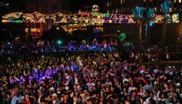 Adderley street festive lights switch on