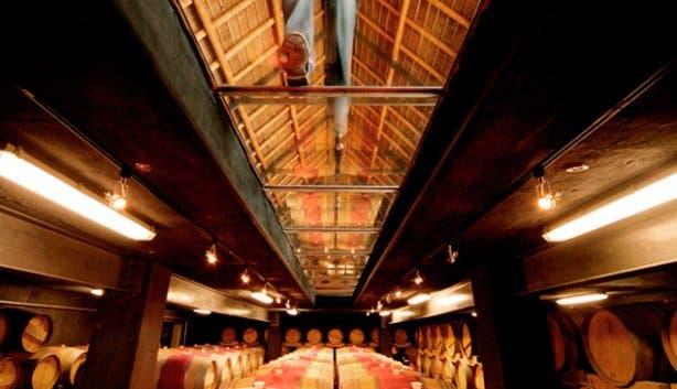 Glen Carlou cellar walkway