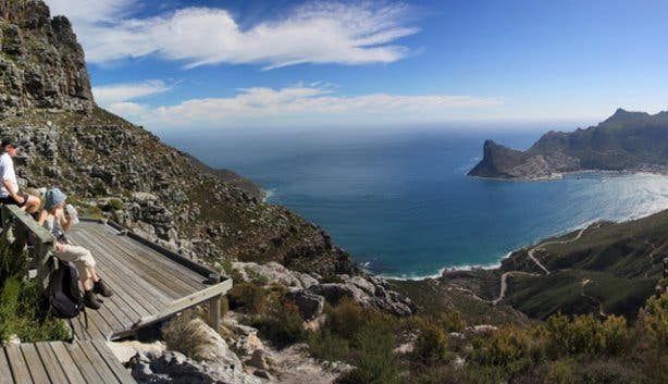 View from one of the Sanpark hiking trails on Table Mountain
