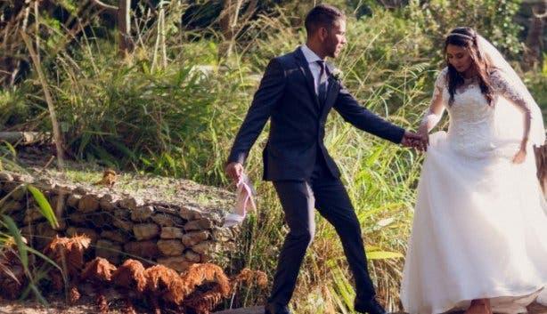 Upper Liesbeek River Garden Newlands Cape Town wedding photo