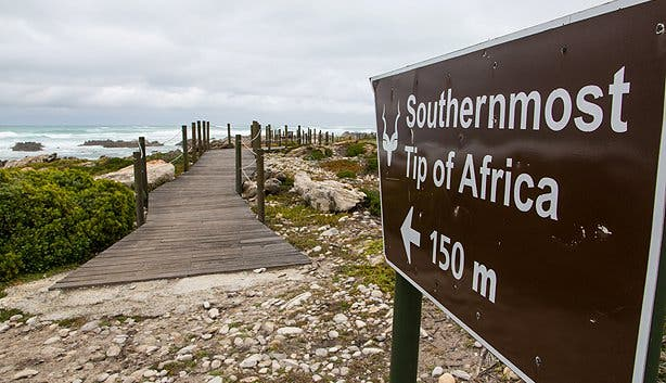 Southernmost Tip of Africa at Cape Agulhas