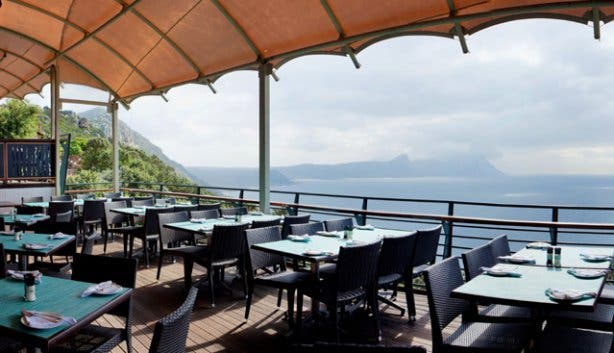 Deck at Two Oceans Restaurant Cape Point